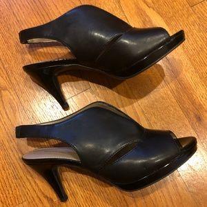 Bandolino Clove peep toe black heels Shoes 8.5